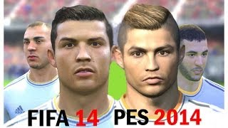 FIFA 14 Vs PES 2014 Faces Real Madrid (Face Comparison