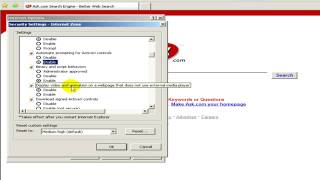 Windows XP Help : How To Enable ActiveX Controls