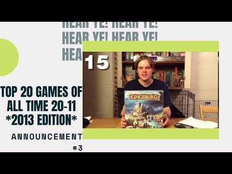 Bower's Game Corner: Top 20 Games Of All Time (20-11) **2013 Edition**