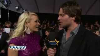Carrie Underwood Gets Interviewed By  Mike Fisher