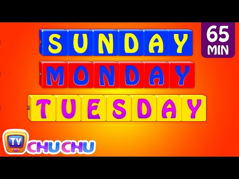 Learn/Teach Days of the Week Song, Alphabets, Colors, Numbers Nursery Rhymes for Kids | ChuChu TV