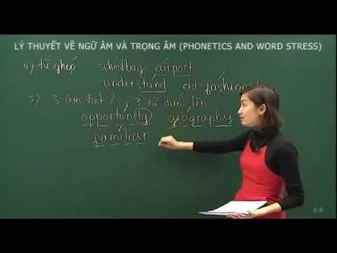 Tiếng Anh- Lý thuyết về ngữ âm và trọng âm