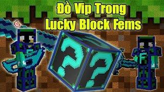 Thử Thách 24h Tìm Đồ Vip Nhất Trong Lucky Block Fems ** Noob Tìm Đồ Vip Nhất Minecraft