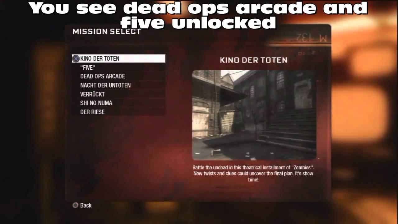 Call Of Duty Black Ops Tricks Unlock All Zombie Ma Youtube