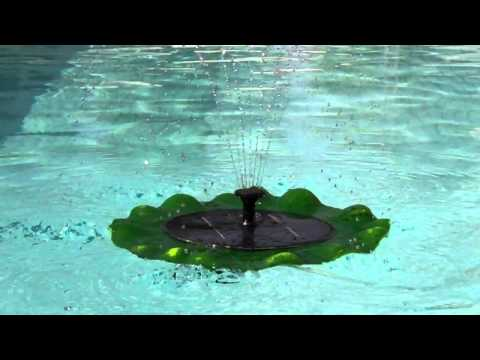 Hozelock Solar Floating Pond Lily Fountain Pump