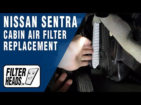 Cabin air filter replacement- Nissan Sentra - YouTube