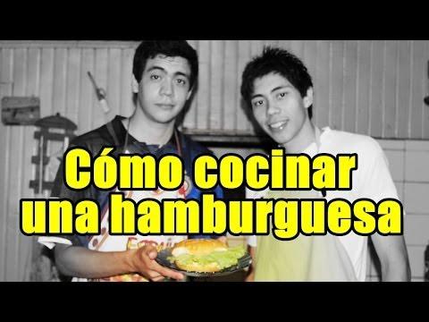 Cómo cocinar una hamburguesa! - Cocinando con Jorge y Nacho