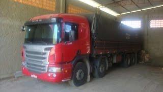 Scania P250 Euro 5 Vermelho 2012 8x2 250cv Manual 0km