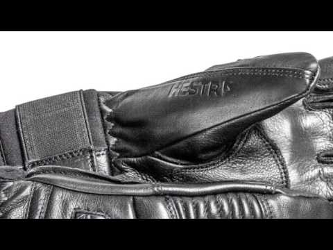Hestra Ski Gloves Hestra Mens Leather Fall Line Ski Glove in Black