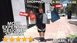 I Spent $7000 At The MOST EXPENSIVE Designer Stores In The World
