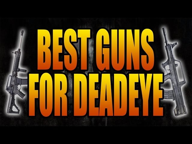 Call of Duty: Ghosts - Best Guns to Use with Deadeye Perk (COD Ghost Tips and Tricks Class Setups)