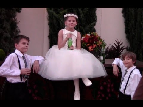 A Flower Girl and Two RingBearers  |  KITTIESMAMA