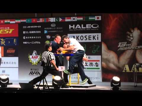 Asian Armwrestling Championships 2014 Right 110kg (6) JAPAN