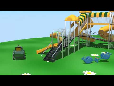 WooWCinema Phim hoạt hình về ô tô - máy kéo trên sân chơi - học số