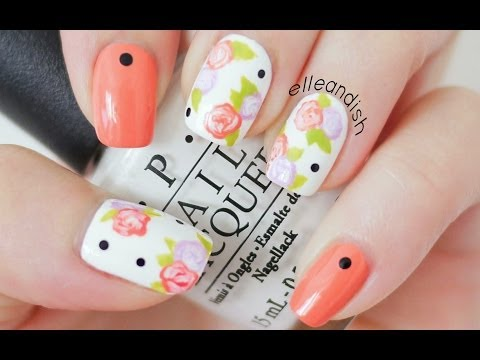 Easy Floral Nails