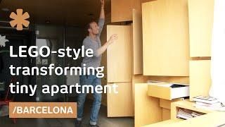 O pequeno apartamento que se transforma em um infinito espaco!