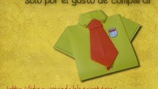 Como Hacer una Camisa Origami