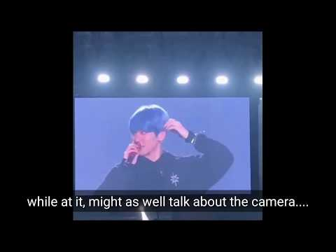 (ENGSUB) 191230 EXO BAEKHYUN FUNNY THROWING SHADE AT CAMERAMEN MUSIC SHOWS #EXPLORATION