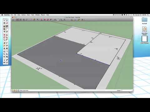 Sketchup #24: Modeling a Floor Plan