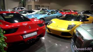 How Many Supercars Can You Squeeze Into A Showroom? Exotic