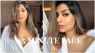 My (REAL) 5 Minute Full Face Makeup!