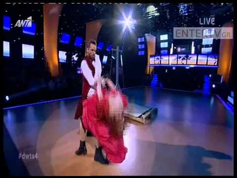 Entertv: Το εκρηκτικό paso doble της Κατερίνας Στικούδη στον ημιτελικό του «Dancing»