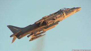 AV8B HARRIER II TWILIGHT DEMO @ 2014 MCAS MIRAMAR AIR SHOW