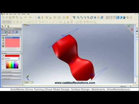SolidWorks Surface Loft Tutorial | SolidWorks Surface Modeling Tutorial