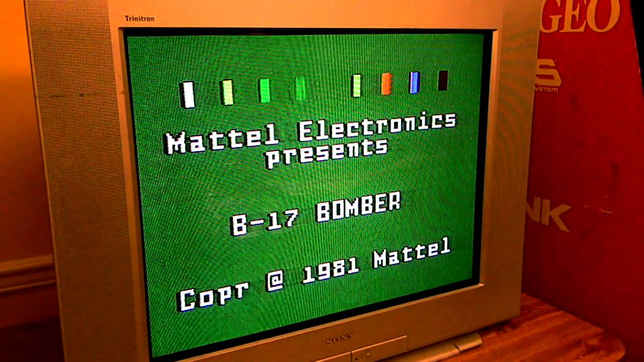 Intellivision B-17 Bomber with Intellivoice (title screen ...