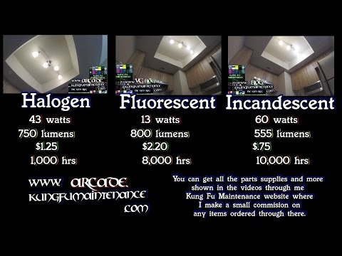 Remodeling Three Halogen vs Fluorescent vs Incandescent Light Bulbs Comparison Renovation Video