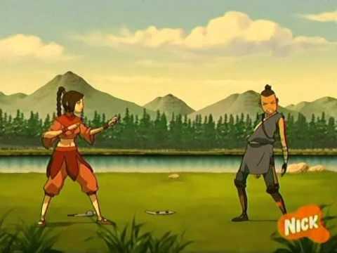 Katara and Sokka vs Mai and Ty Lee - YouTube