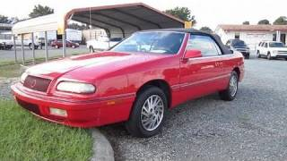 1994 Chrysler Lebaron GTC Start Up, Exhaust, and In Depth Tour
