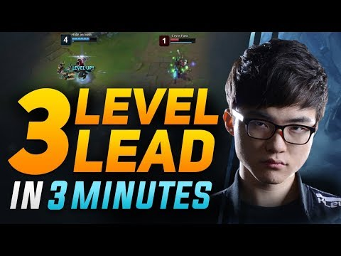 How Faker Gets a 3 Level Lead in 3 Minutes