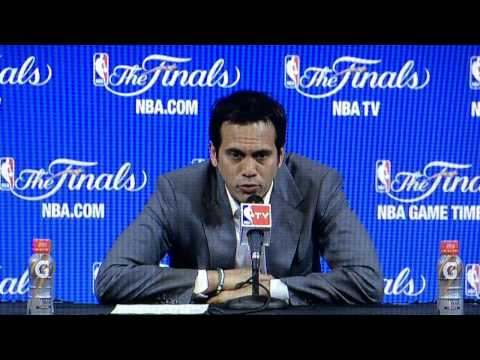 Heat coach Erik Spoelstra speaks after NBA Finals Game 3 loss