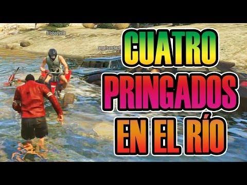 GTA V ONLINE | 4 PRINGAOS EN UN RÍO XD | ÉPIC MISIL Y NUCLEAR X2 | Josemi