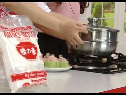 Hướng dẫn nấu món ngon - Bí xanh nhồi sườn hấp - Món ngon mỗi ngày