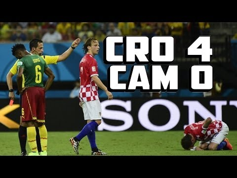 Croatia Demolishes Cameroon After Song's Red Card [Croatia Cameroon 4-0]