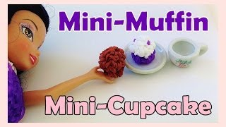 Barbie Rainbow Loom Charms Mini Muffin / Cupcake How To