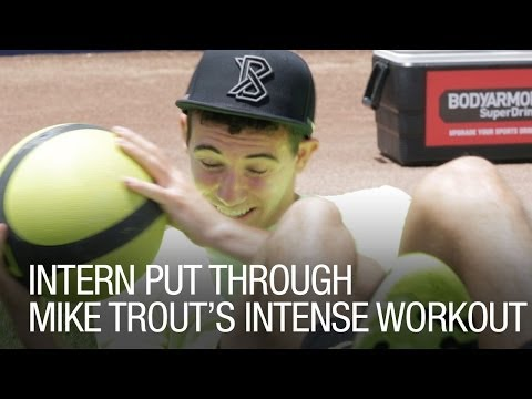 Intern put through Mike Trout's Intense Workout