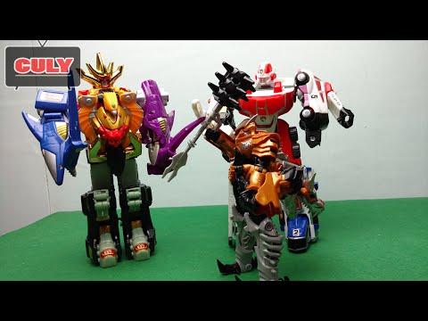 siêu nhân Deka Robot đánh transformer khủng long bạo chúa dinobot - siêu nhân chế - toy for kid