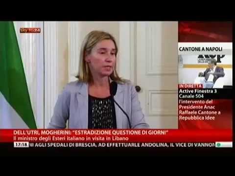 Ministro Mogherini su estradizione Marcello Dell'Utri dal Libano