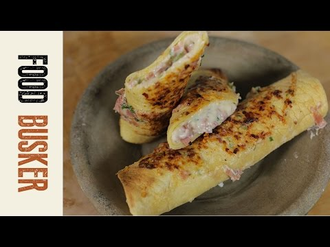 Ham and Cheese Crepes | Food Busker