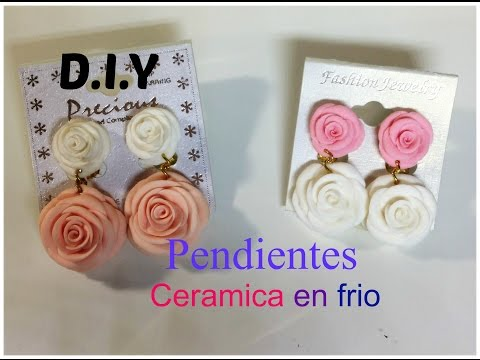 Flores De Ceramica en Frio: Pendientes/ Aretes !