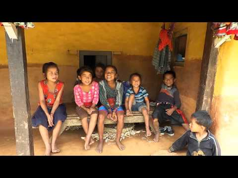 Tamang children singing traditional nepali songs