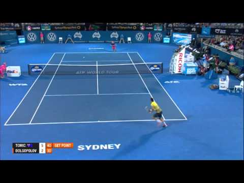 TOMIC (AUS) vs DOLGOPOLOV (UKR) QUARTER FINAL HIGHLIGHTS Apia International Sydney 2014