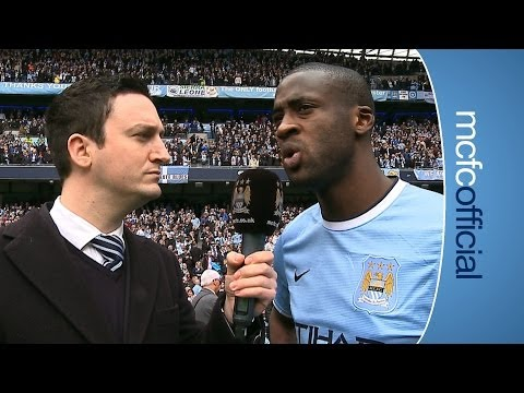 YAYA ON TITLE | City v West Ham Champions 2014