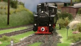 Küstenbahn in Spur 0 Schmalspur auf der Modellbahn Ausstellung Köln