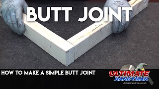 How to make a Butt joint