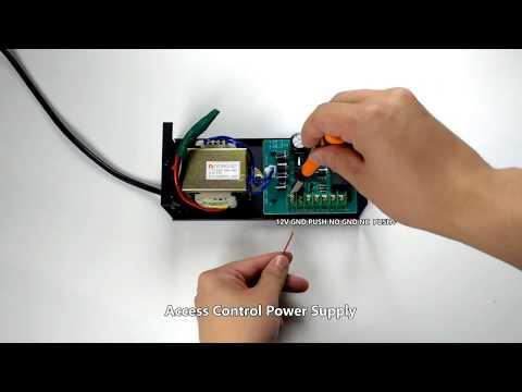 P7 controllo accessi impronta digitale e card cablaggio con alimentazione 12V
