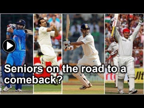 Zaheer, Yuvraj, Sehwag and Gambhir: Comeback in the offing?